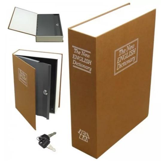 Книга-сейф The New English Dictionary 265х200х65 мм большая бежевая - фото 3