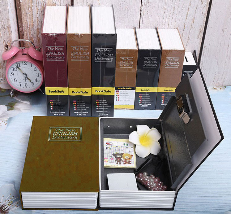 Книга-сейф The New English Dictionary 265х200х65 мм большая бежевая - фото 4