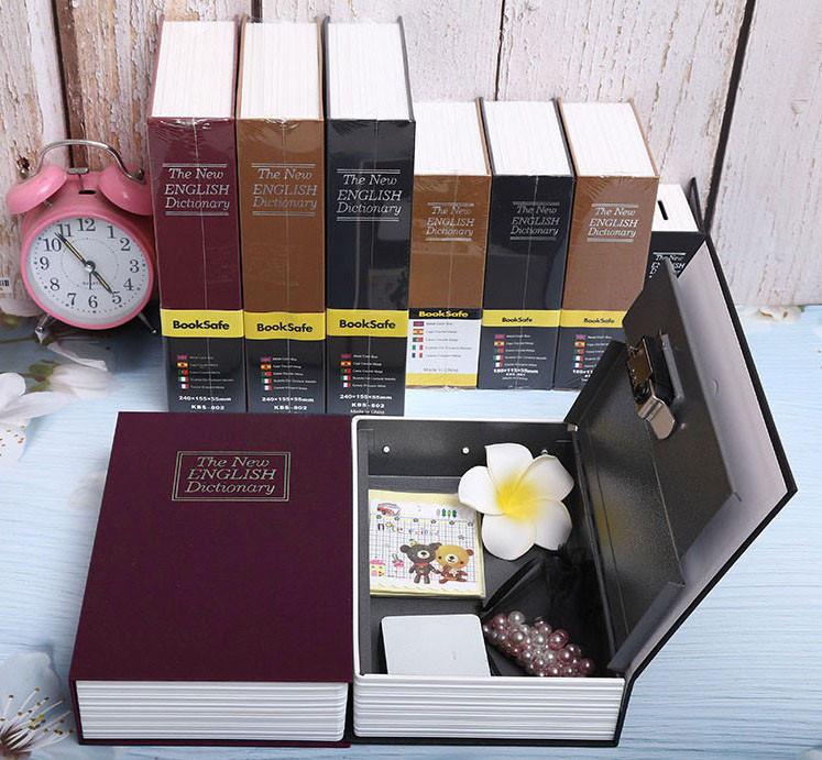Книга-сейф The New English Dictionary красная 265х200х65 мм большая - фото 7