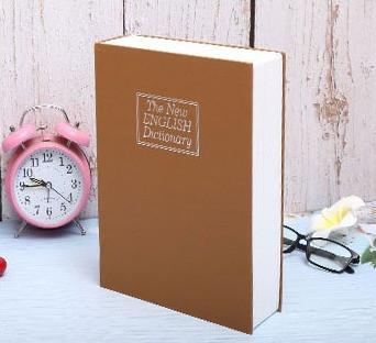 Книга-сейф The New English Dictionary 265х200х65 мм большая бежевая - фото 6