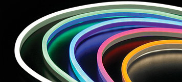 Гибкий неон 10 х 5 мм. 12 v, Flex Neon флекс неон, холодный неон, неоновый шнур. Бухта 50 метров