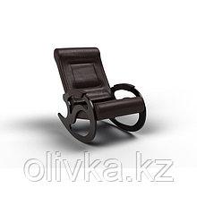 Кресло-качалка «Вилла», 1040 × 640 × 900 мм, экокожа, цвет венге