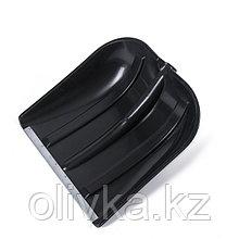 Ковш лопаты пластиковый, 455 × 400 мм, с оцинкованной планкой, тулейка 32 мм