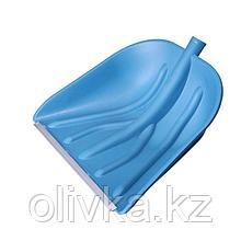 Ковш лопаты пластиковый, 410 × 460 мм, с алюминиевой планкой, тулейка 32 мм, «Купец»