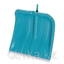 Ковш лопаты пластиковый, 400 × 435 мм, с металлической планкой, голубой, комбисистема GARDENA