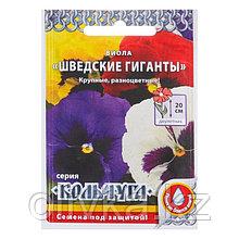 """Семена цветов Виола """"Шведские гиганты"""" серия Кольчуга, Дв, 0,1 г"""