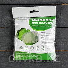 Чехол для капусты, на резинке, d = 25 см, плотность 17 г/м², спанбонд с УФ-стабилизатором, набор 5 шт., белый