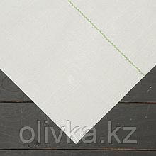 Агроткань застилочная, с разметкой, 5 × 1,05 м, плотность 100 г/м², полипропилен, белая, колышки - 10 шт.,