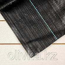 Агроткань застилочная, с разметкой, 5 × 1,8 м, плотность 100 г/м², полипропилен, чёрная, «Крон»