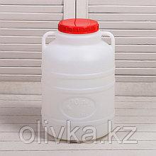 Фляга-бочка пищевая, 10 л, белая