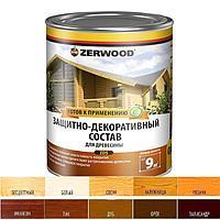 Защитно-декоративное состав ZERWOOD ZDS белый 0,85л