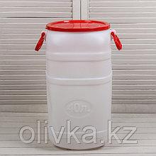 Фляга пищевая, 40 л, горловина 25 см, 2 ручки