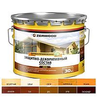 Защитно-декоративное состав ZERWOOD ZDS белый 3л