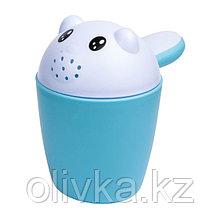 Ковш-игрушка «Котёнок», цвет голубой