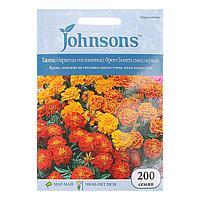 """Семена цветов Тагетес (бархатцы отклоненные) """"Френч Бонита"""", смесь окрасок Johnsons, 200шт ,"""