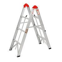 Лестница-стремянка двухсекционная TUNDRA, 2 х 3 ступени, алюминиевая, складная
