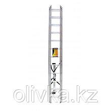 """Лестница """"Вихрь"""" ЛА 3х12, алюминиевая, трехсекционная, рабочая высота 7.87 м"""