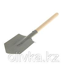 Лопата автомобильная, деревянный черенок