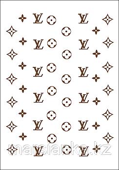 """Слайдер дизайн Moonshine Nails """"Принт LV коричневый"""""""