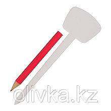 Ярлык садовый для маркировки, 12.5 см, набор 25 шт. + карандаш, пластик