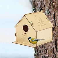 Кормушка для птиц «Гнездо с птичками», 19.5 × 22 × 22 см, Greengo