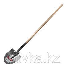 Лопата штыковая, для земляных работ, из нержавеющей стали, деревянный черенок, «ЗУБР Профессионал»