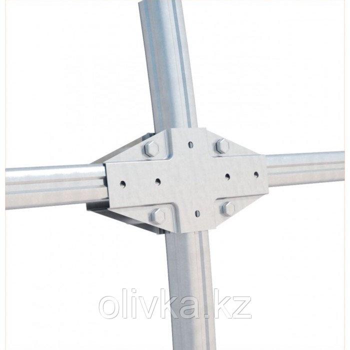 Удлинитель теплицы «Огородная», 2 × 3 × 2,1 м, оцинкованная сталь, без поликарбоната - фото 3