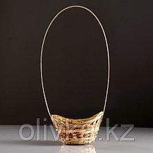 Корзина «Ладья», 15×13×8 см, бамбук