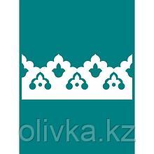 Декоративный элемент «Тюльпан», шаг узора 125 мм, 15,6 × 200 см, белый, RAL 9003
