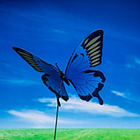 "Декоративный штекер ""Бабочка махаон с блёстками"" микс, фото 2"
