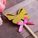 Декоративный штекер «Бабочка», 7 × 14 см, фото 2