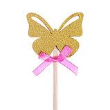 Декоративный штекер «Бабочка», 7 × 14 см, фото 4