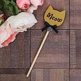 Декоративный штекер «Meow», 7 × 14 см, фото 3