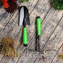 Набор садового инструмента, 2 предмета: мотыжка, совок, длина 35 см, пластиковые ручки