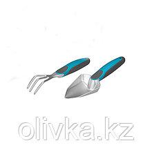 Набор садового инструмента, 2 предмета: совок посадочный, рыхлитель