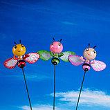 """Декор садовый """"Улыбающаяся пчёлка"""" штекер 40 см, микс, фото 3"""