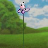 """Декор садовый """"Улыбающаяся пчёлка"""" штекер 40 см, микс, фото 6"""