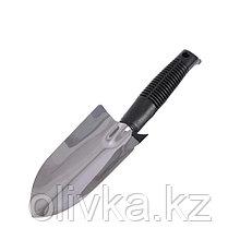 Совок посадочный, длина 32 см, толщина 0.8 мм, нержавеющая сталь, пластиковая ручка