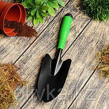 Совок посадочный, длина 33 см, ширина 11 см, пластиковая ручка