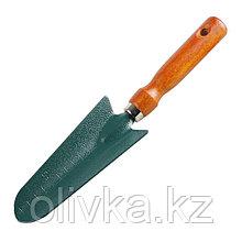 Совок посадочный, длина 29 см, деревянная ручка, GRINDA