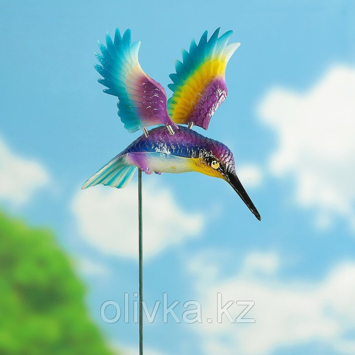 """Декоративный штекер """"Колибри с поднятыми крыльями"""" микс"""