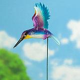 """Декоративный штекер """"Колибри с поднятыми крыльями"""" микс, фото 3"""