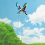 """Декоративный штекер """"Колибри с поднятыми крыльями"""" микс, фото 4"""