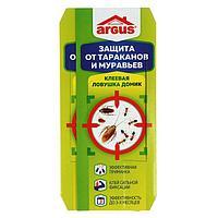 Клеевая ловушка ARGUS домик от тараканов, набор, 4шт