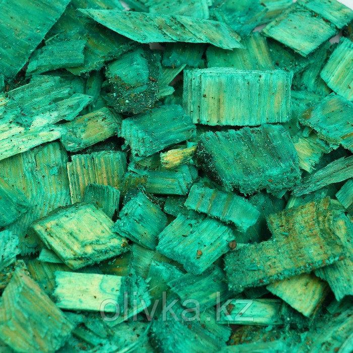 Щепа декоративная, зелёная 60л.