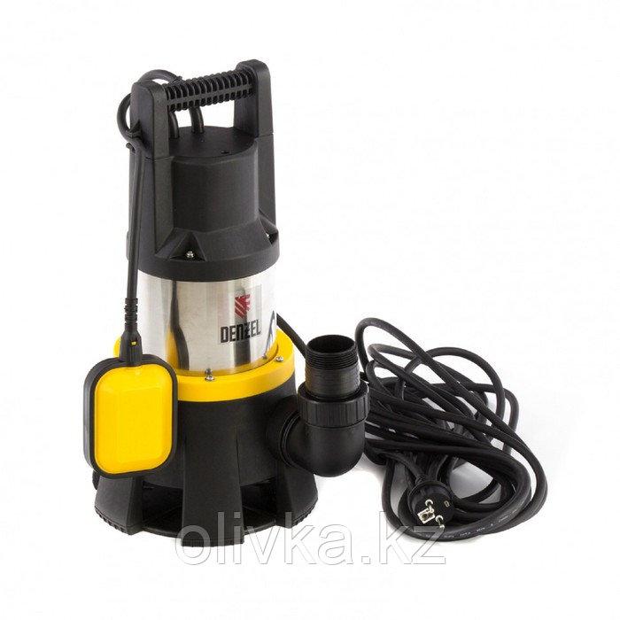 Насос дренажный Denzel DP1400X, 1400 Вт, подъем 11 м, 25000 л/ч, съемный кабель 10м