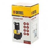 Насос дренажный Denzel DP1400X, 1400 Вт, подъем 11 м, 25000 л/ч, съемный кабель 10м, фото 3