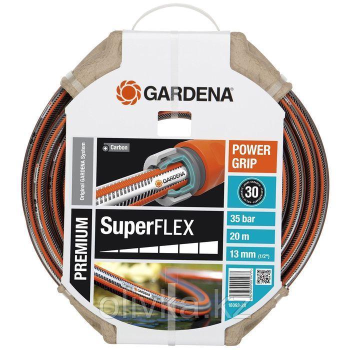 """Шланг, ПВХ, d = 12 мм (1/2""""), L = 20 м, 3-слойный, армированный, GARDENA SuperFLEX"""