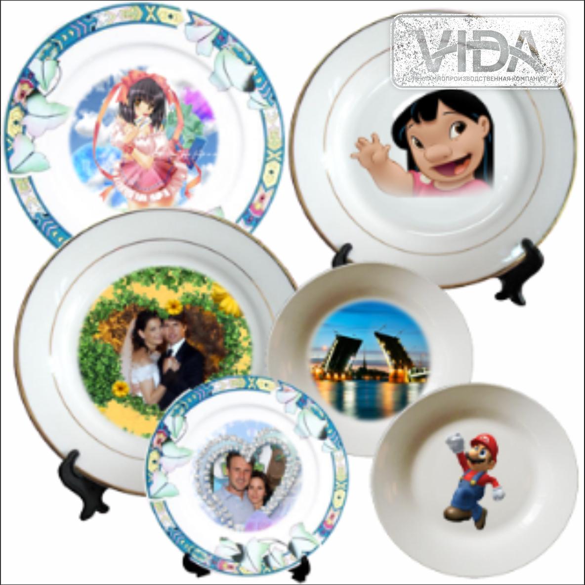 Нанесение на тарелки в Алматы