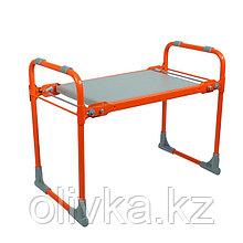 Скамейка-перевёртыш садовая складная 56х30х42,5 см, оранжевая, максимальная нагрузка 100 кг